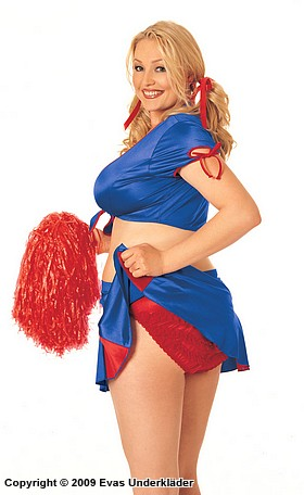 Cheerleader-kostym, plus size, 4